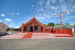 Le marae, lieu de rassemblement maori