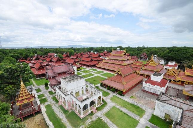 Myanmar - Mandalay - palais royal, 2015