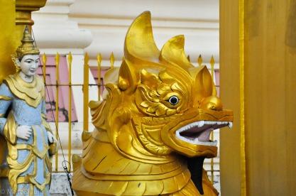 Chinthe, Shwedagon Pagoda, Yangon, Myanmar