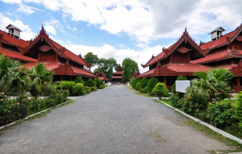 Myanmar - Mandalay - royal palace, 2015