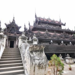 Myanmar - Mandalay - Kuthodaw Pagoda, exterieur, 2015