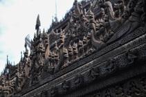 Myanmar - Mandalay - Kuthodaw Pagoda, toit, 2015